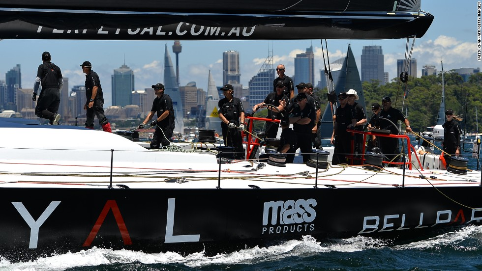 Missing the wind the most was the Perpetual LOYAL. The super maxi was ahead of the pack at the beginning of the day, only to soon come unstuck as the light conditions started to help race favorite and six-time line honors winner Wild Oats XI.