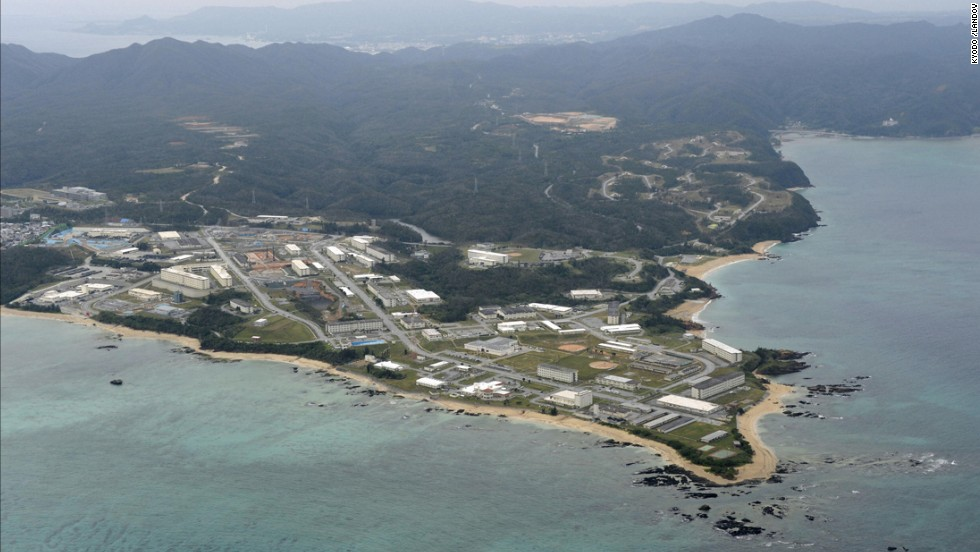 "An area off the shore of the Henoko district of Nago, northern Okinawa. Nakaima approved the Japanese government's application to reclaim land for a new base in Henoko, which would replace the U.S. Marine Corps base in Futenma, a more congested part of Okinawa's main island, <a href=""http://www.japantoday.com/category/politics/view/okinawa-oks-relocation-of-u-s-air-base-from-futenma-to-henoko"" target=""_blank"">Japanese media reported.</a>"