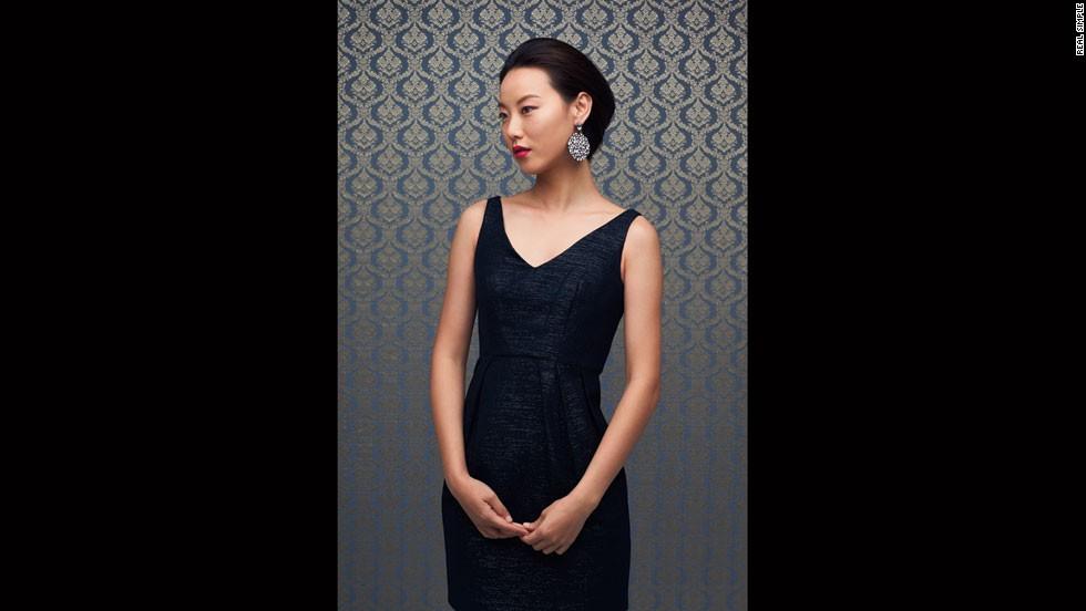 Joanna Laura Constantine earrings, Orla Kiely dress.