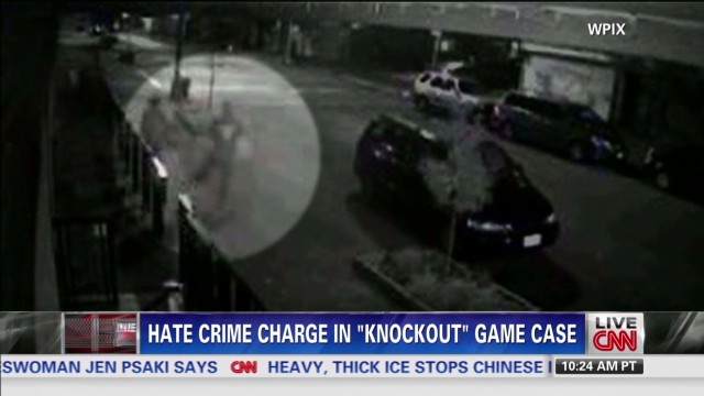 "Hate crime charges in ""knockout"" case"
