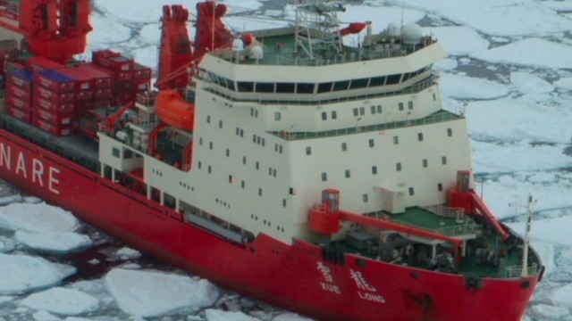 Ship stuck in Antarctica awaits rescue