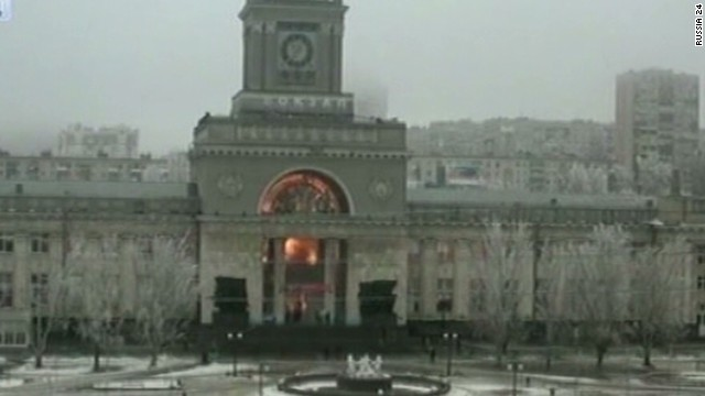 See moment of train station blast