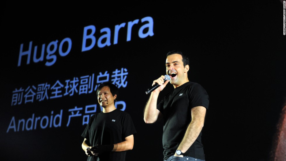 "Hugo Barra, right, made headlines in August when he ditched Google for Chinese smartphone maker Xiaomi. How will the new hire raise the profile of ""China's Apple?"""