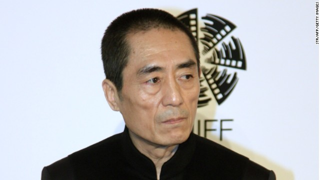 This file photo shows Chinese filmmaker Zhang Yimou attending a commercial event in Beijing in April.