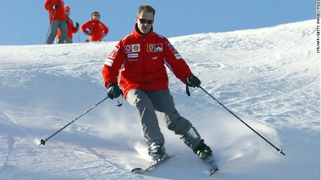 Michael Schumacher is an accomplished skier but his accident on December 29 has left him in a medically-induced coma.
