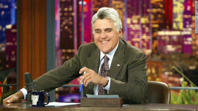 BURBANK, CA - JULY 7: Jay Leno appears on 'The Tonight Show' on July 7, 2004 at the NBC Studios in Burbank, California. (Photo by Kevin Winter/Getty Images)