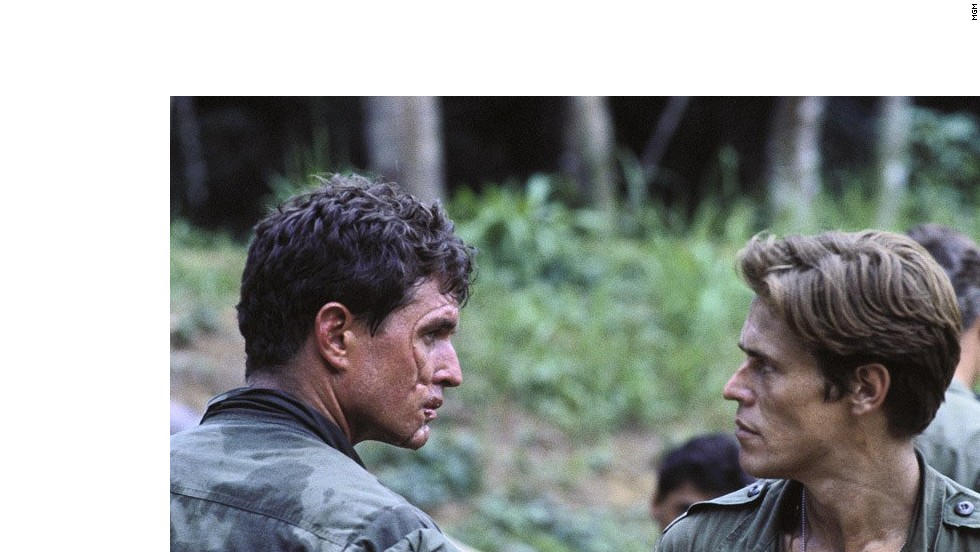"<strong>""Platoon""</strong> -- Oliver Stone's searing Vietnam War drama starred Charlie Sheen (not pictured), Tom Berenger and Willem Dafoe. It won the Oscar for Best Picture of 1986."