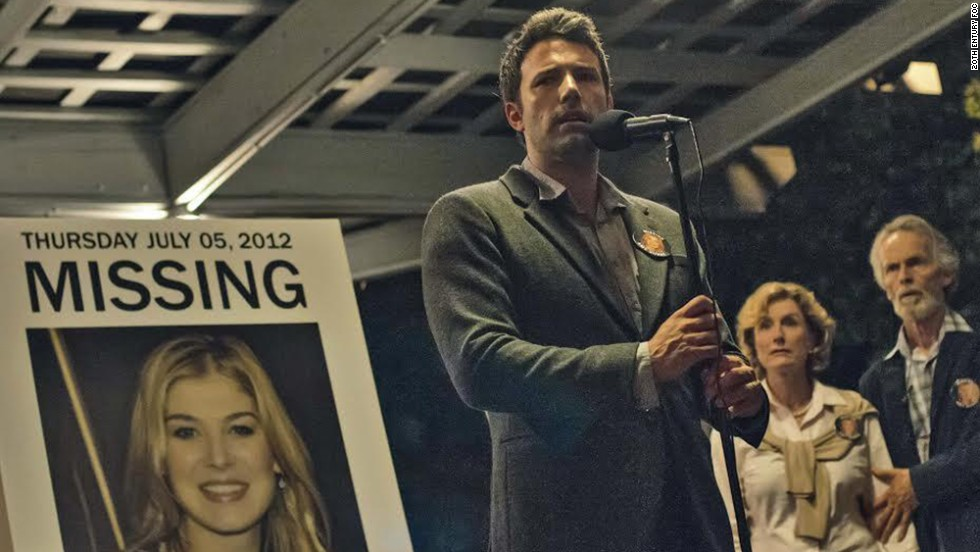 "<strong>""Gone Girl""</strong>: The film version of Gillian Flynn's best-selling thriller has <a href=""http://marquee.blogs.cnn.com/2013/12/30/first-look-at-ben-affleck-in-gone-girl/"">intrigue</a> all around. The plot concerns a couple, played by Ben Affleck and Rosamund Pike, who leave New York for the husband's Missouri hometown. Their degrading marriage turns ugly when the wife goes missing. The film is directed by the master of chilly scenes, David Fincher. Flynn adapted her novel, and Affleck has said she's ""very faithful to her book."" Still, one wonders if she's kept the ending. (<em>October 3</em>)"