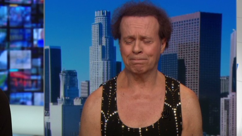 Richard Simmons tears up on live TV