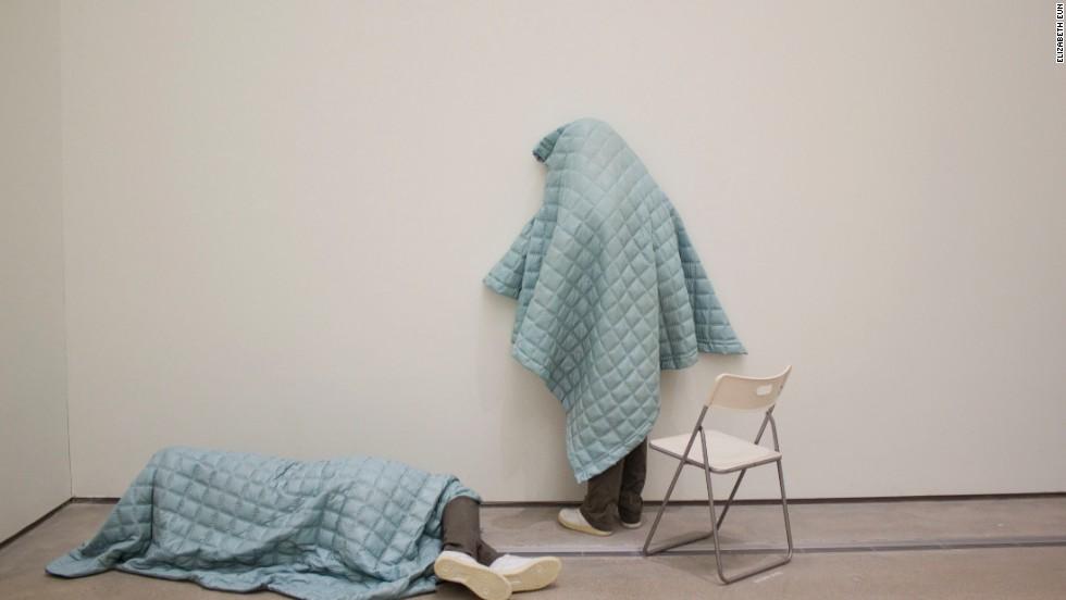 "Artist Gin Hong Sok's installation is part of the ""Zeitgeist Korea"" exhibition."