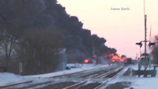 Smoke billows from North Dakota crash
