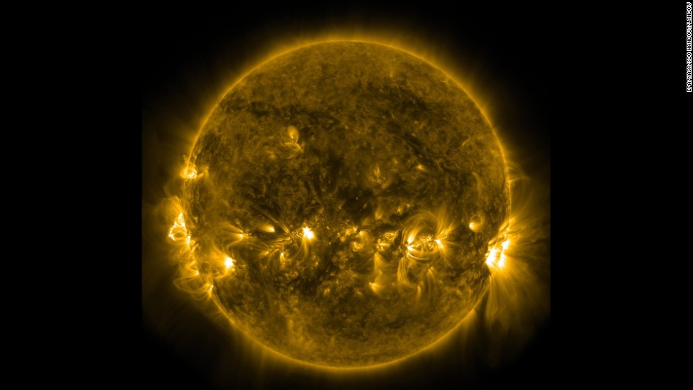 <strong>December 31:</strong> This photo from NASA shows the quiet corona and upper transition region of the sun on the last day of 2013.