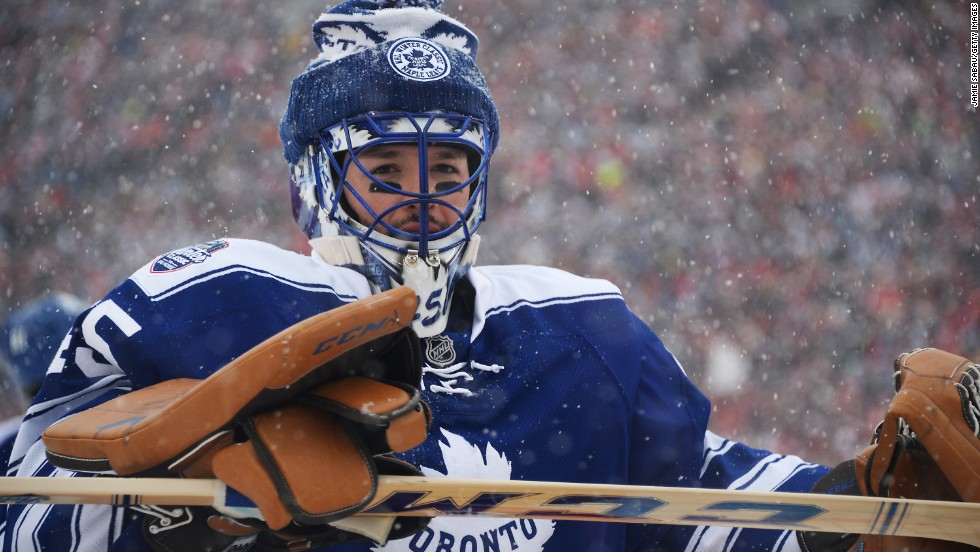 "Toronto Maple Leafs goaltender Jonathan Bernier, who made 41 saves, reportedly needed heat packs under his kit to keep warm. ""Definitely it was something really special,"" Bernier told the NHL website. ""As hockey players we're never going to forget that. Having 105,000 people screaming and yelling for us is really amazing."""
