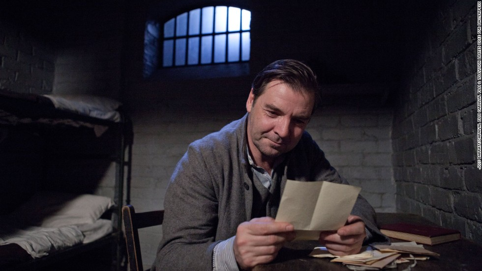 After a series of brushes with the law, the mysterious valet Mr. Bates (Brendan Coyle) is out of prison and living in wedded bliss to Anna.