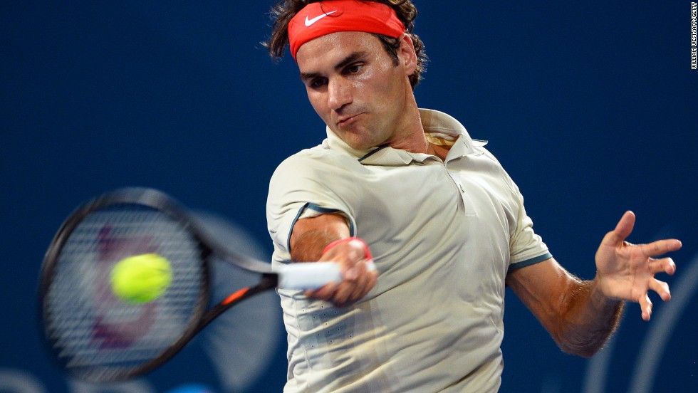 The Swiss' first tournament of 2014 in Brisbane proved a morale-booster as he switched to a larger headed racket.