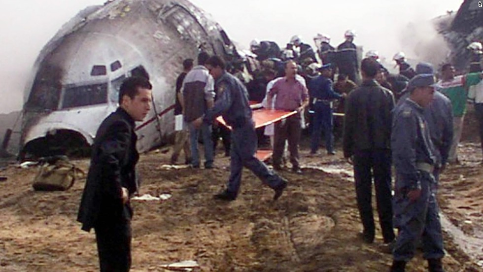 "Also in 2003, an<a href=""http://www.cnn.com/2003/WORLD/africa/03/07/plane.algeria.survivor.reut/index.html"" target=""_blank""> Air Algerie Boeing 737 crashed shortly after takeoff in the Sahara Desert</a> at Tamanrasset, Algeria. The crash killed 102 passengers and crew. The only survivor was a soldier who was flying back to his Algiers barracks at the end of his leave."