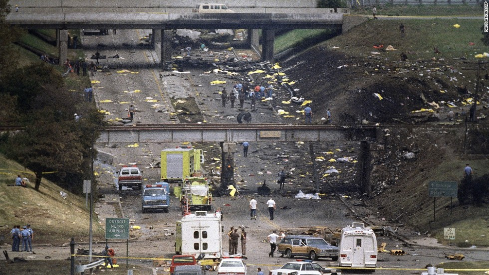 Cecelia was aboard an MD-82 airliner heading to Phoenix. The flight crew failed to set the plane's flaps and slats correctly for takeoff, according to the National Transportation Safety Board. It went down shortly after takeoff from Detroit's airport. Debris scattered along a road near the airport immediately after the crash.