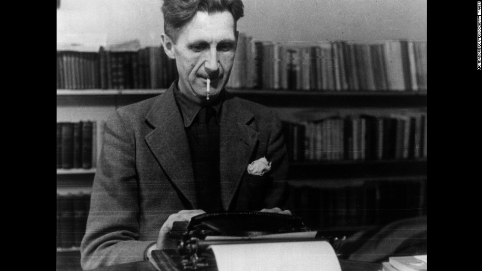 "George Orwell, best known for his books ""Animal Farm"" and ""Nineteen Eighty-Four,"" works at his typewriter in this undated photo."
