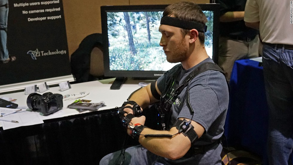 The PrioVR suit tracks your body movements using an array of strapped-on sensors. It can be used for games or more serious uses, like military training.