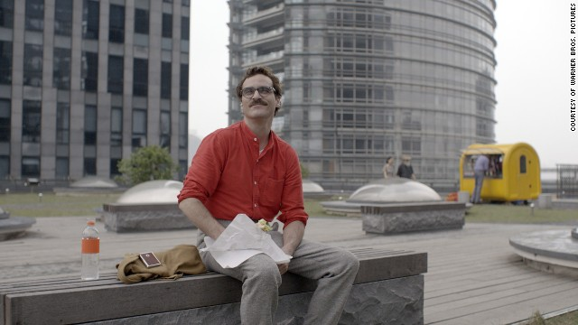 "Joaquin Phoenix plays Theodore Twombly in the romantic drama ""Her,"" directed by Spike Jonze."