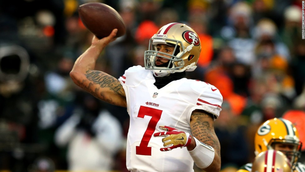 San Francisco quarterback Colin Kaepernick eschewed such measures, playing without gloves and in short sleeves as he led his team to a 23-20 win. Kaepernick grew up in Wisconsin and was a childhood Packers fan.