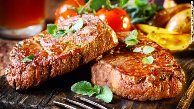 Paleo Diet followers eat lots of animal protein and produce, while avoiding grains and dairy products.