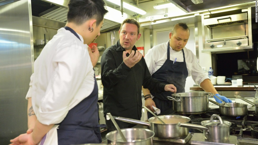 "Albert Adria, center, prepares a special dinner as guest chef at <a href=""http://www.catalunya.hk/"" target=""_blank"">Catalunya Hong Kong </a>on January 3. He was named one of the most influential people in the gastronomy world by Time Magazine last year."