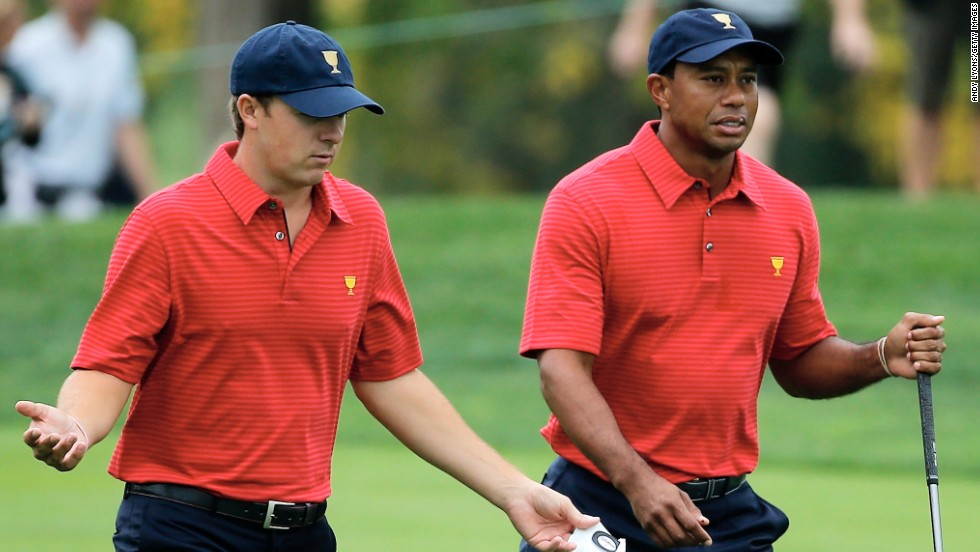 Spieth was soon mixing in illustrious company, gaining a captain's pick for the 2013 Presidents Cup in his rookie season as the United States Team beat their International counterparts 18½ - 15½.