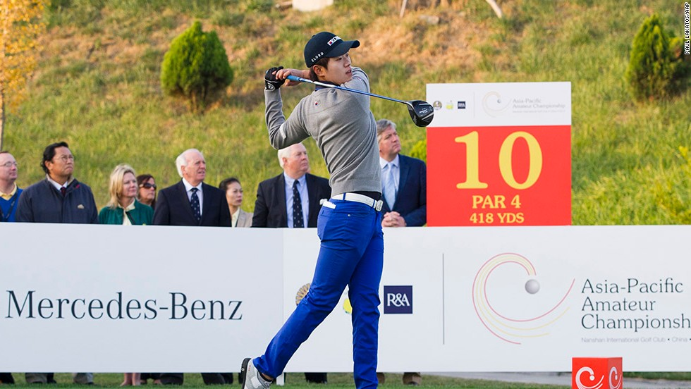 Lee battled to a three-shot win in the Asia-Pacific Amateur Championship against a high-quality field to serve notice of his promise.