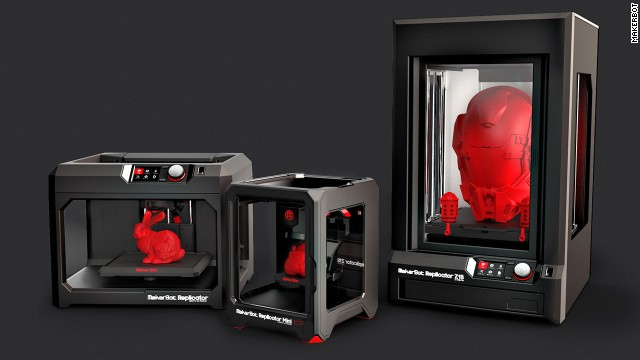 MakerBot unveiled three new 3-D printers at the Consumer Electronics Show in Las Vegas on Monday.