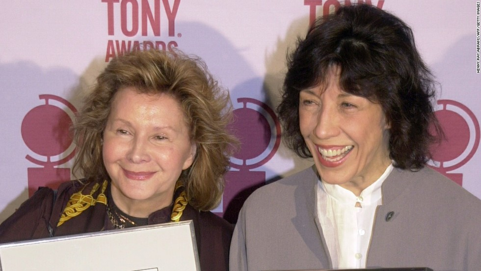 """Columnist Liz Smith <a href=""""http://www.chicagotribune.com/entertainment/sns-201401021600--tms--lizsmittr--x-a20140103-20140103,0,6831114.story"""" target=""""_blank"""">broke the news</a> that actress Lily Tomlin, right, rang in 2014 by marrying Jane Wagner, her partner of 42 years, on New Year's Eve."""