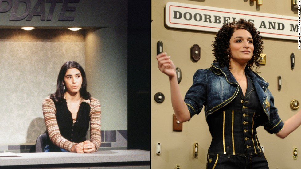 "Sarah Silverman, left, was only on the show from 1993 to 1994 and Jenny Slate from 2009 to 2010 but both made an impression during their brief times on ""Saturday Night Live."""