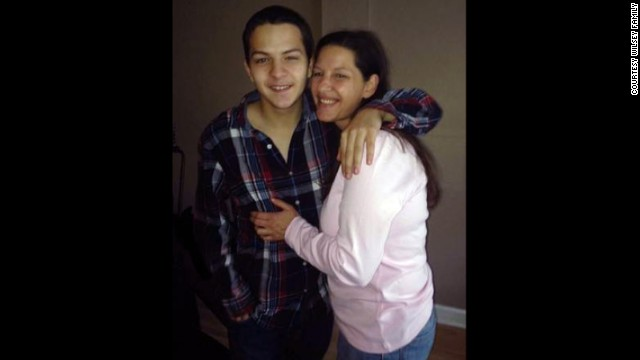 Keith Vidal with his mother, Mary Wilsey.