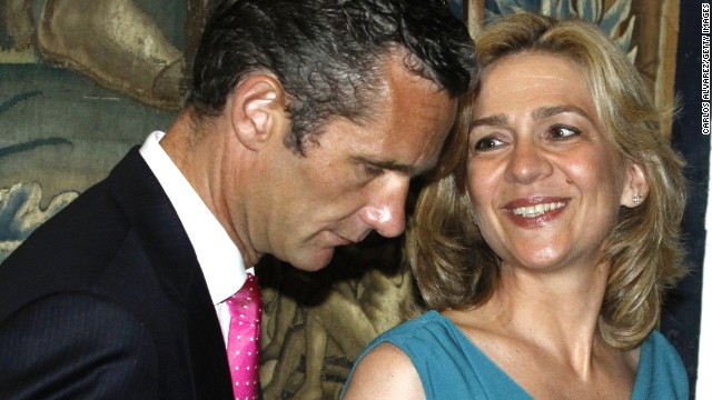 Princess Cristina and her husband, Inaki Urdangarin, are shown in Palma de Mallorca, Spain, in 2011.