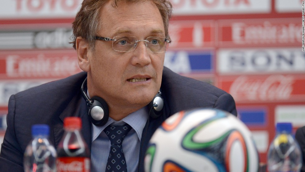 FIFA secretary general Jerome Valcke was suspended for 90 days.