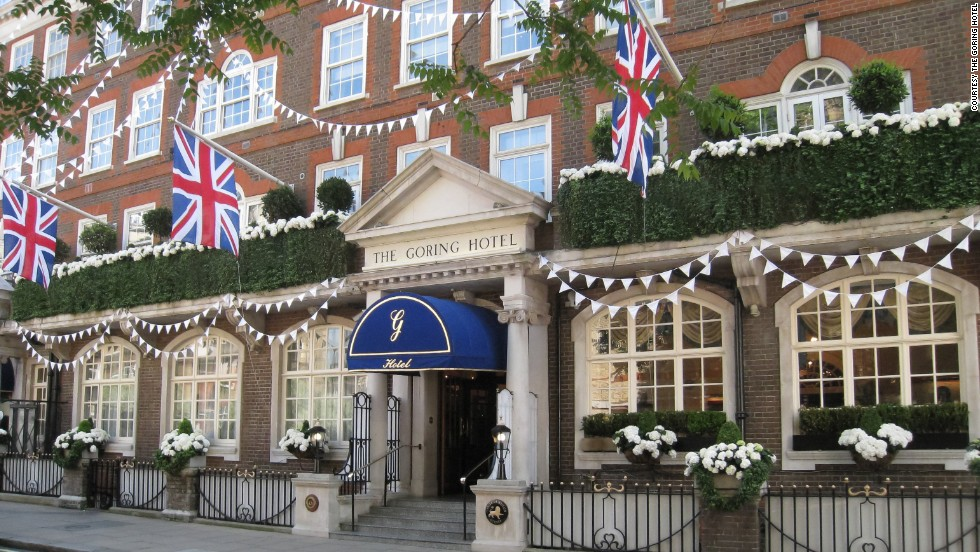The Goring is where Kate Middleton spent the night before marrying Prince William and becoming the Duchess of Cambridge. Its other claim to fame is being the world's first hotel to offer en-suite bathrooms, heating and air-conditioning.