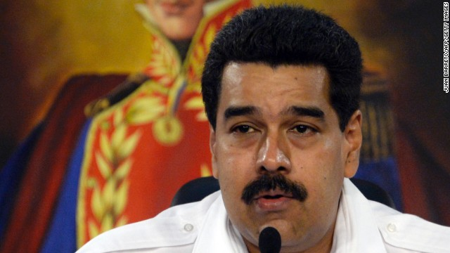 Venezuelan President Nicolas Maduro speaks at the Miraflores presidential palace in Caracas on January 8.
