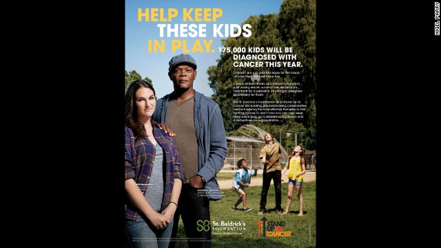 Actor Samuel L. Jackson is taking on a new role in a campaign to raise childhood cancer awareness.