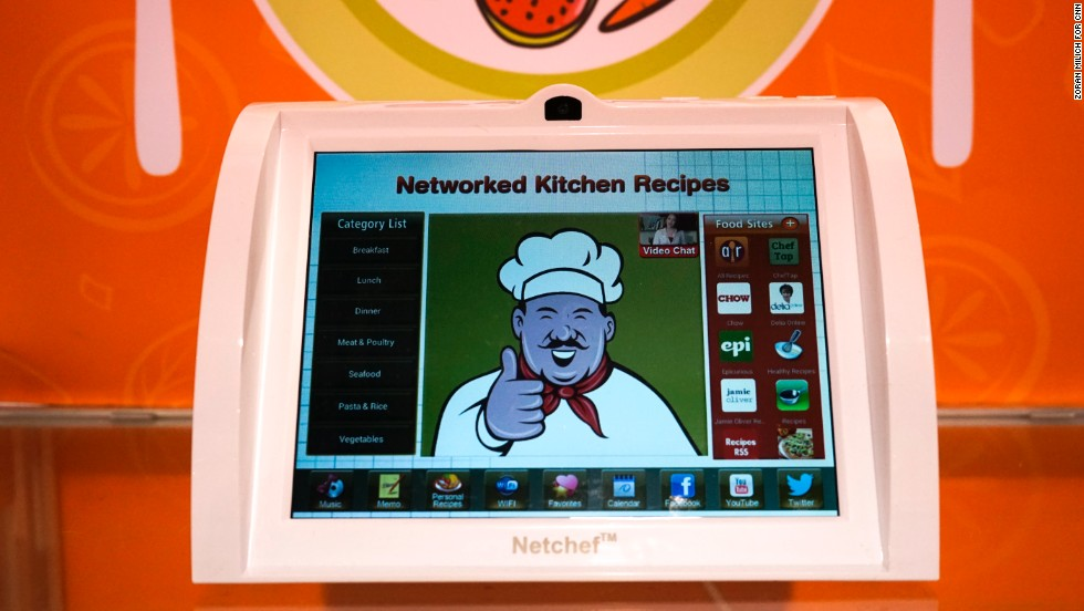 Netchef by Sungale  is an interactive kitchen computer featuring a cookbook, built-in camera and speakers. It lists at $229  and is available now.