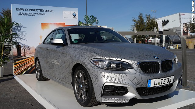 BMW demonstrated its latest self-driving technology on a modified 2 Series Coupe at the Consumer Electronics Show in Las Vegas, Nevada.