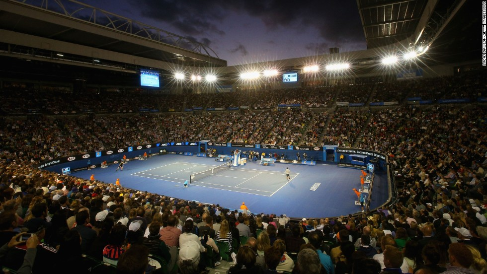 The Australian Open is the only grand slam that schedules night matches every day of the two-week tournament.