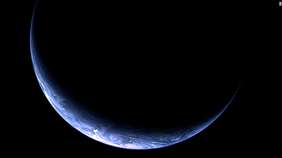 Rosetta snapped this image of Earth in November 2009. The spacecraft was 393,328 miles from Earth.