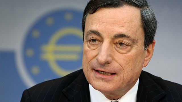 Mario Draghi, President of the European Central Bank (ECB) addresses the media during a press conference following the meeting of the Governing Council in Frankfurt/Main, Germany, on January 9, 2014. The European Central Bank opted to hold key rates at its first meeting of 2014 on Thursday, but analysts said it may have to take more concrete action later. AFP PHOTO / DANIEL ROLANDDANIEL ROLAND/AFP/Getty Images