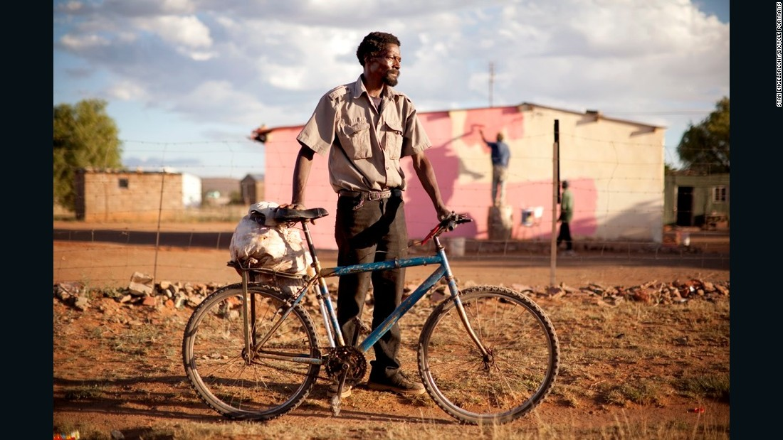 """'Sjoo, I've had this bike for four years now already. I ride it every morning, every night. To farms, anywhere, any place, wherever. On the back here I have a bag of fruit -- apricots. I just picked them up from where I work -- they were for the pigs. And on the front here, my pliers. And my pump. Tools for the bicycle. All I need."""""""