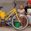 Bicycle Portraits Dibuseng Janki with her mother, Majanki Janki
