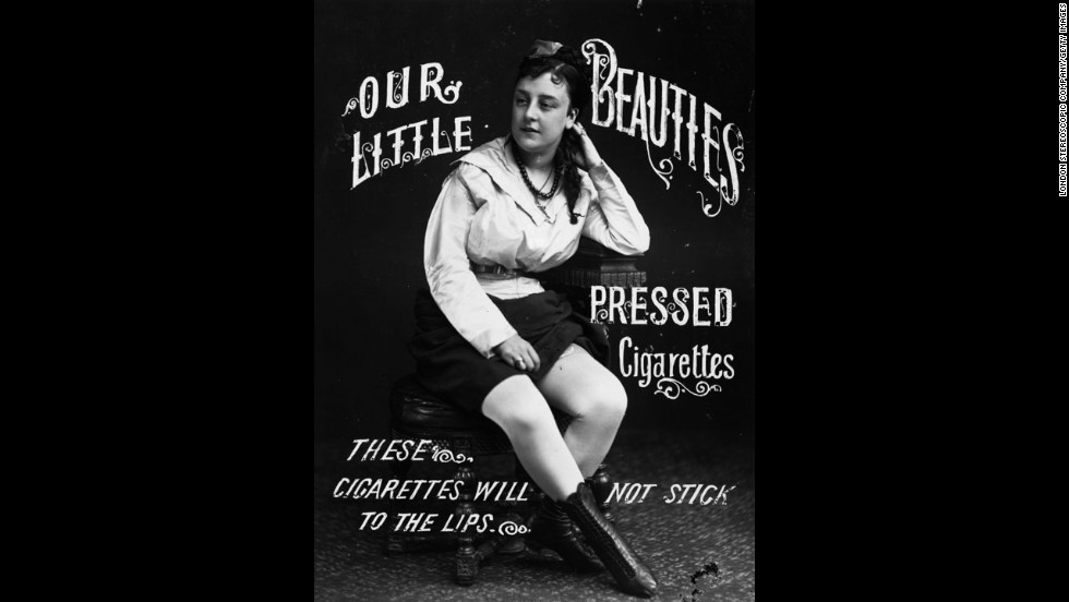 An advertisement for Our Little Beauties cigarettes, near the turn of the 20th century.