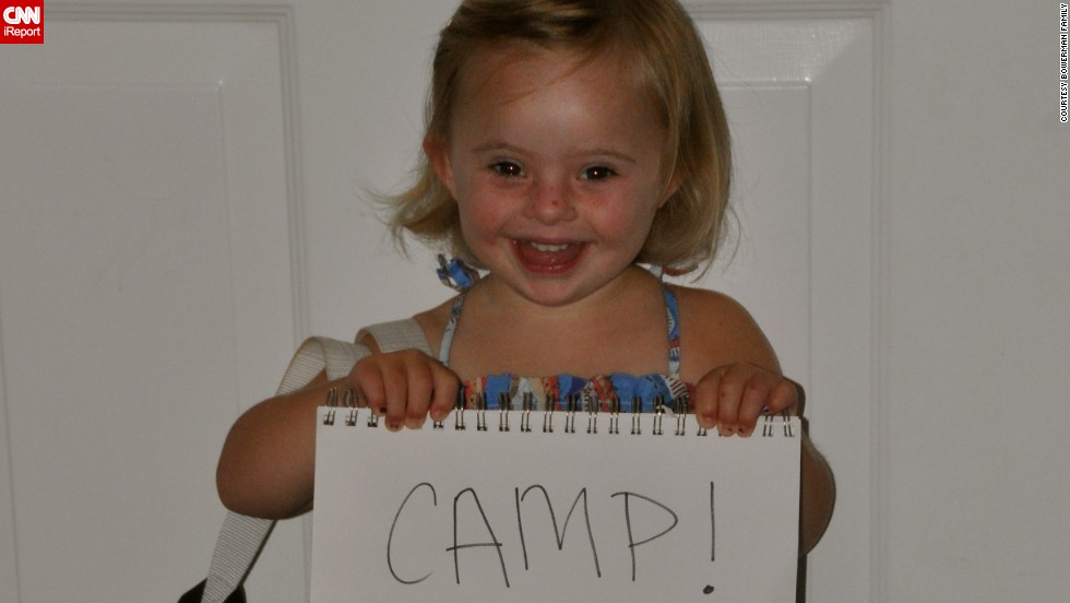 Ellie heads to her first day of camp at 3.