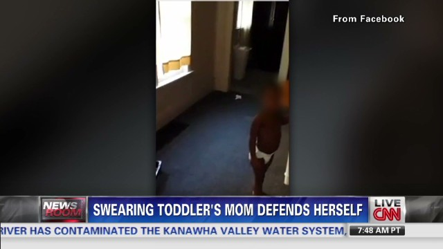 Debate over the cursing toddler video