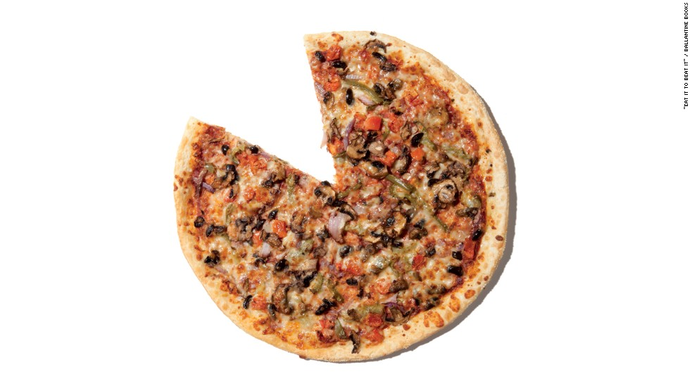 "<strong>Best ""healthy"" pizza:</strong> Pizza Hut's hand-tossed Veggie Lovers has 180 calories, 6 grams fat, 3 grams saturated fat and 410 milligrams sodium per slice. ""You'll need to exercise Pizza Hut's 'made to order' option,"" says Zinczenko, ""but we chose the hand-tossed pie over Pizza Hut's thin-crust option. With the same number of calories per slice, the hand-tossed delivers less sodium, less sugar and more protein than its thinner cousin."""