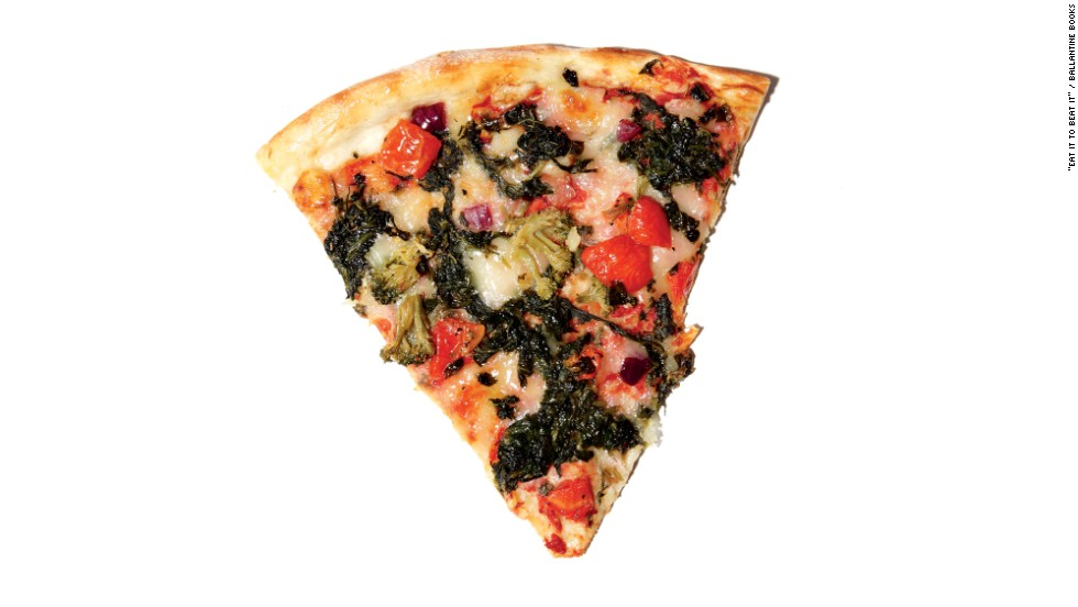 "<strong>Worst ""healthy"" pizza:</strong> Sbarro's broccoli, spinach and tomato pan pizza has 640 calories, 30 grams of fat, 8 grams of saturated fat and 1,300 milligrams of sodium per slice. ""Look at those nice Sbarro folks, offering up a healthy slice for mall shoppers everywhere! But don't be fooled,"" says Zinczenko. ""You can put a stick of asparagus on a doughnut, but it's still a doughnut."" Asked to comment, Sbarro told CNN: ""We offer a variety of menu options to satisfy the appetites of all of our guests, from those seeking healthy options to those looking to indulge their cravings. While the Broccoli Spinach & Tomato Pan Pizza contains vegetable toppings, we never claimed or marketed this particular pizza as 'healthy.' For consumers looking for a lower calorie pizza option, we introduced the Sbarro Skinny Slice in January 2013, a 270 calorie slice made with a New York thin crust and premium vegetable toppings."""
